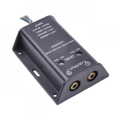 high low convertor hi low inlocuiește lipsa iesire RCA adaptor semnal