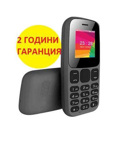 Мобилен телефон с копчета Sol B1400, 2 години гаранция, българско меню