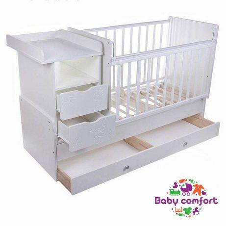 Трансформер кровать для новорождённых Жираф манеж Алматы + доставка
