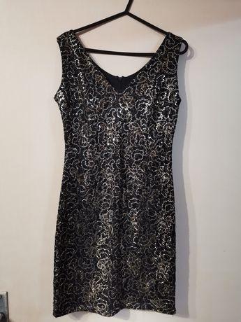 ! НОВО ! Официална къса рокля с пайети