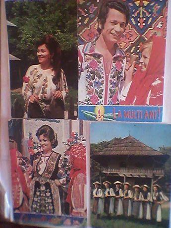 Carti postale cu fotografii de interpreti si ansanbluri folclorice