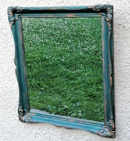 Oglinda/ decor perete- rama lemn masiv- vintage/ retro/ shabby