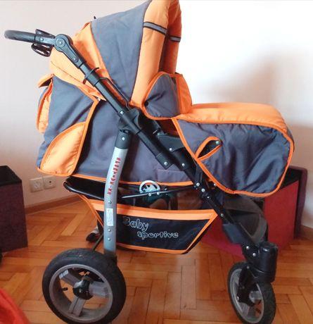 Детска количка 2 в 1 (зимна/лятна) + порт бебе + аксесоари