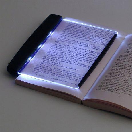 Светещ LED панел за четене на книга в тъмно