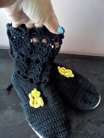 Ръчно плетени ботушки