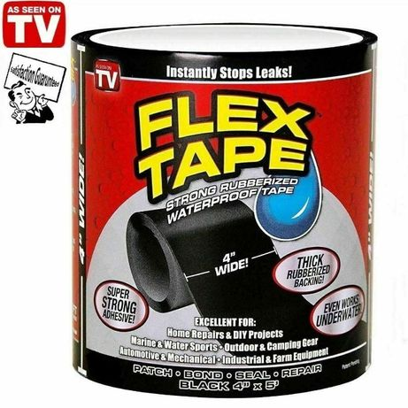Супер прочная водонепроницаемая лента скотч Flex Tape Black