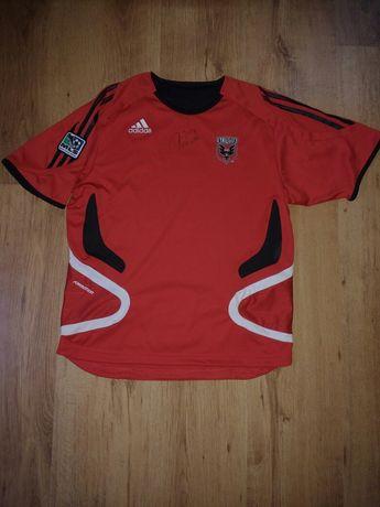 Tricou fotbal cu autografe Adidas MLS DC United mărimea 14 ani sau S