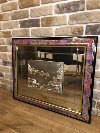 Tablou 3D lucrat in argint cu rama roz mov Creazioni Berna