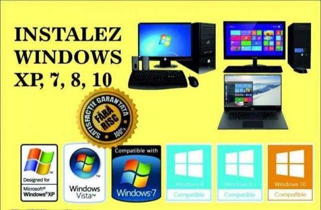 Instalare Windows Microsoft 10, 7, 8 Licentiat