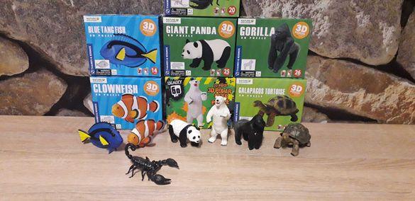 3D/4D пъзели животни