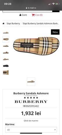 Burberry/papuci/