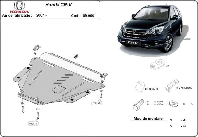 Scut motor metalic pentru Honda CR-V 2007-prezent - otel 2.5mm