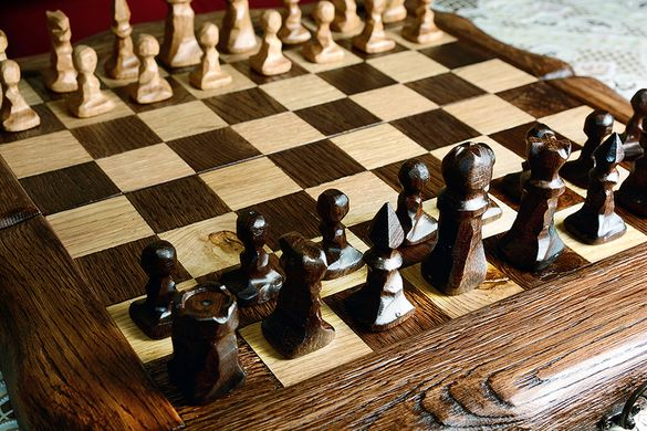 Шах и табла от дъб ,ръчна изработка