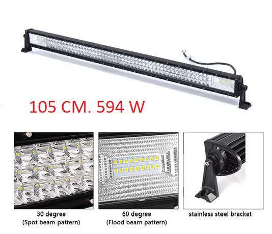 105 СМ 594W Мощен 7D 7Д Led Bar Лед Диоден Бар Прожектор 12V 24V