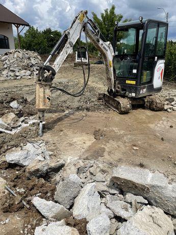 Inchiriere miniexcavator NOU fose picon  fundații excavator Bobcat
