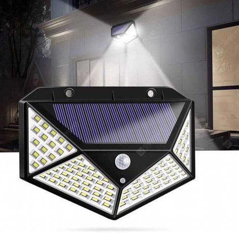 Четворна соларна LED лампа със сензор за движение
