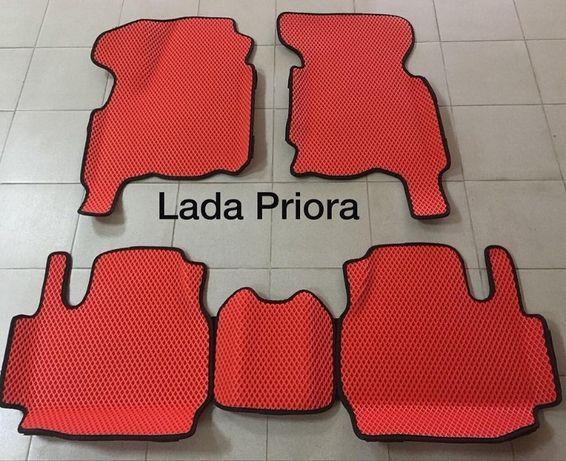 ЕВА коврики для Lada Priora с высокими бортами