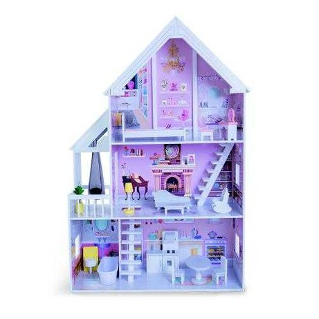 Промоция!Дървена къща за кукли с обзавеждане Cinderella