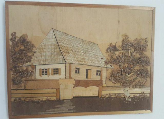 vechi tablou artizanat din paie