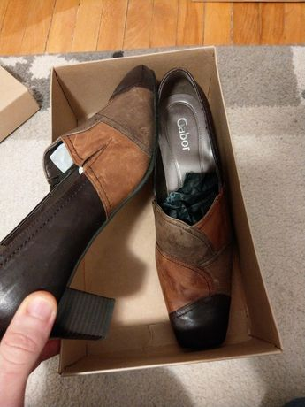 Pantofi dama piele maro Gabor noi marime 41-42