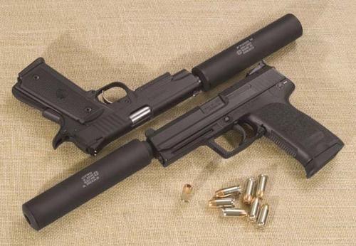 Pistol *Modificat 40%* (CU AMORTIZOR) V.2 -Silencer- Airsoft + Munitie