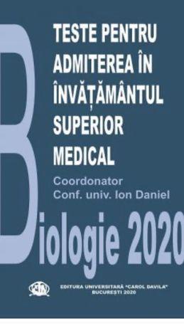 MANUAL DE ADMITERE 2020- culegere teste biologie UMF Carol Davila