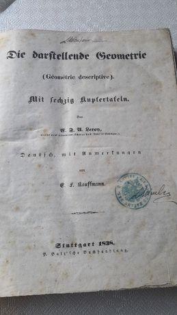 Carte Geometrie descriptivă din 1838,posibil schimb cu ceasuri ,monezi