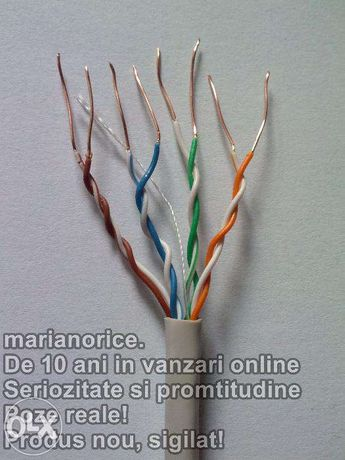 Cablu UTP / retea CAT.5e Cupru. Cablul este de cea mai buna calitate!