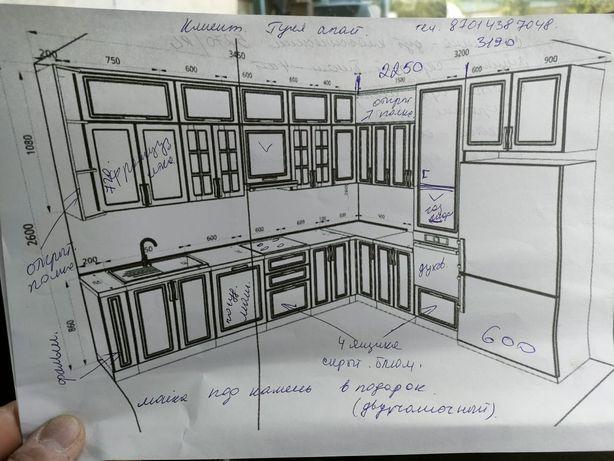 Делаем проекты кухонных гарнитур