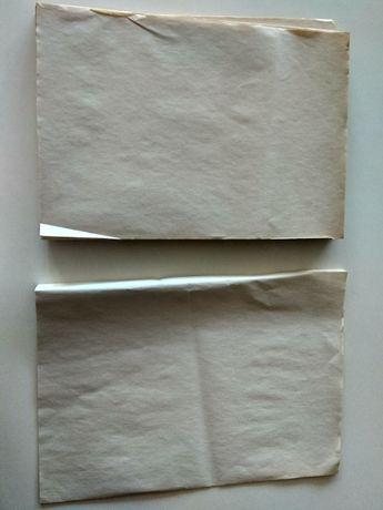 Стари листа формат А4 естествено пожълтели