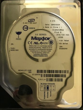 Hdd IDE (PAta) 40GB 80GB