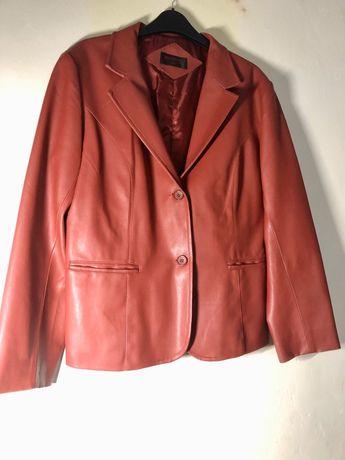 Palton piele Eco Rosu foarte calitativ- fara defecte marimea L-XL