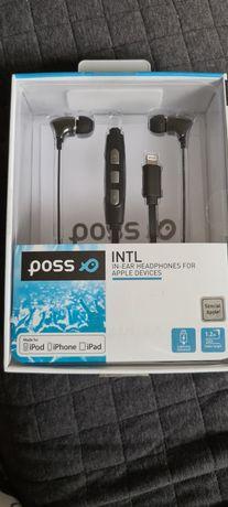 Casti (Iphone) In-Ear PSINTL Poss, Lightning, 1.2m, Negru