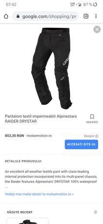Pantaloni textil Alpinestar Impermeabili. 178-190cm. 70-85 kg.