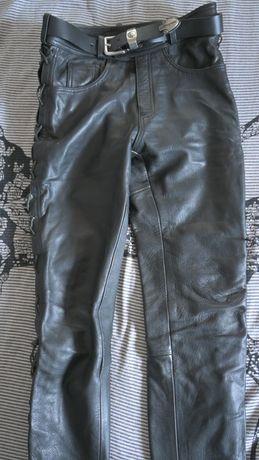 Pantaloni piele moto (curea inclusa)