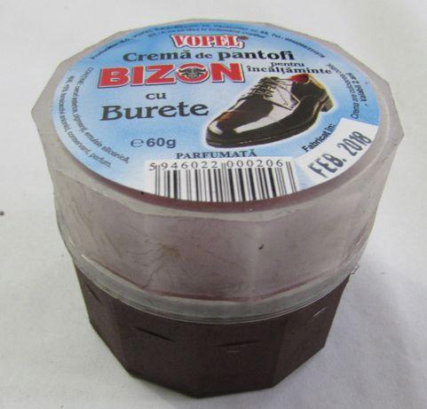 Crema de pantofi maro cu aplicator -BIZON