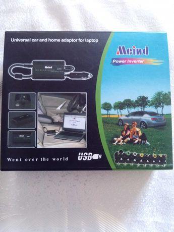 Зарядно за кола с различни накрайници Adaptor USB Car for laptop