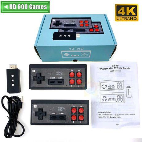Безжична ретро телевизионна игра 4KHDMI с размерите на флашка-600 игри