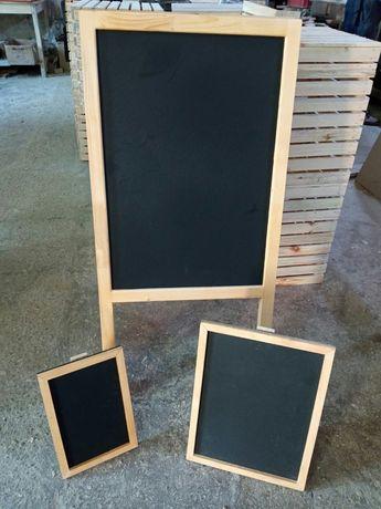 черни дъски за писане с тебешир, различни модели и размери