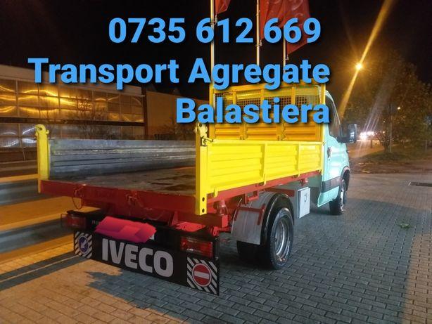 Transport agregate balastiera (nisip'pietris'refuzDeCiur)