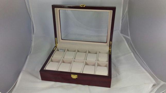 Cutie depozitare 10 ceasuri de mana Cutie de lemn