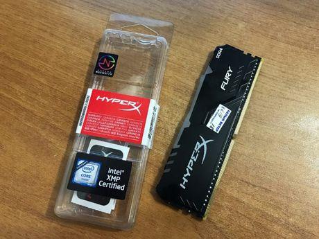 DDR4, 8Gb, 3466MHz. Kingston HyperX Fury RGB, HX434C16FB3A/8