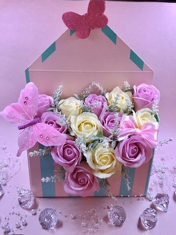 Aranjament trandafiri de săpun plic