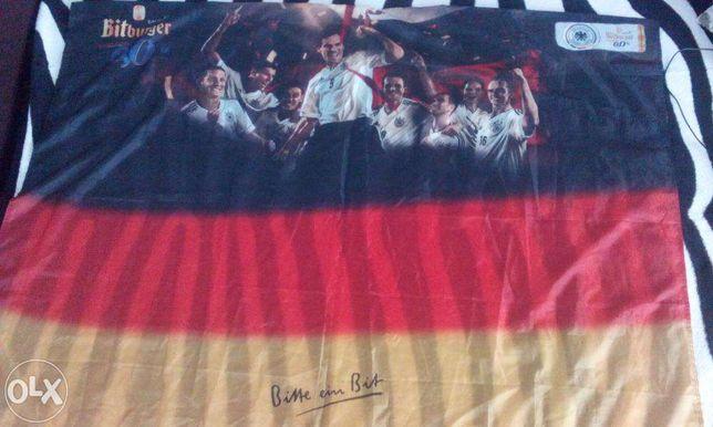 steag cu imprimeul tim.Germaniei campioana mondialului din Brazil 2014