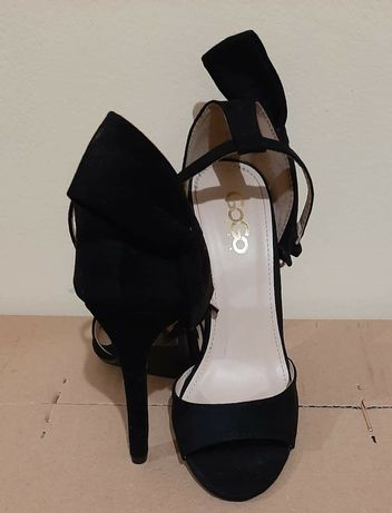 Обувки на токче, с панделка
