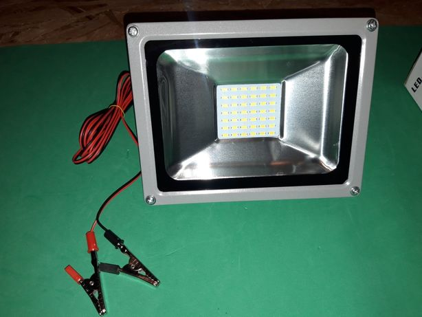 Proiector led 12v / 20w lumina alba camping, pescuit rezistent la apa!
