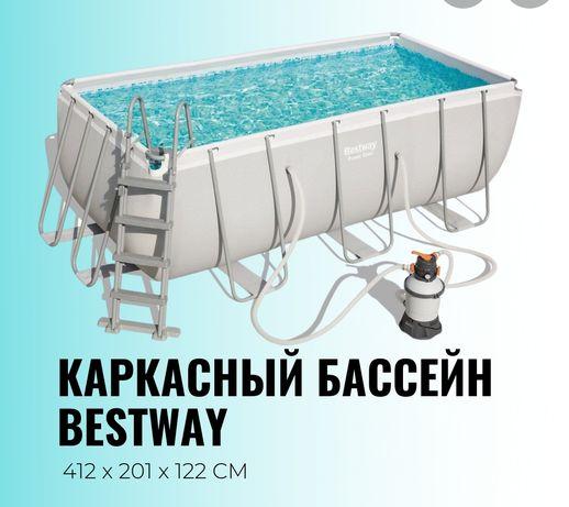 Каркасный бассейн производство intex и bestway