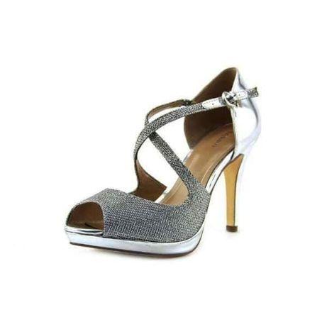 Официални Обувки и чанта в сребро