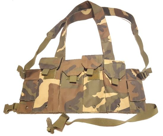 Ham Tactic Chest Rig Woodland Airsoft