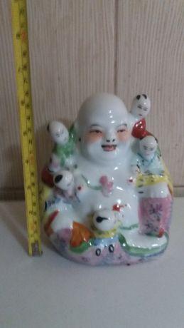 Statueta Budha vesel din portelan -vintaje